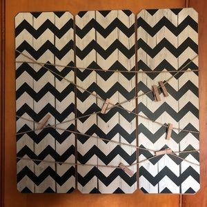 Picture Hanging Chevron Board